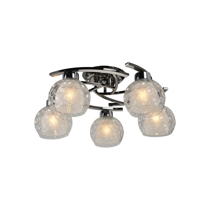 Потолочная люстра накладная 875/5PF-Darkchrome IDLampнакладные<br>Потолочный. Бренд - IDLamp. материал плафона - стекло. цвет плафона - белый. тип цоколя - E27. тип лампы - накаливания или LED. ширина/диаметр - 570. мощность - 60. количество ламп - 5.<br><br>популярные производители: IDLamp<br>материал плафона: стекло<br>цвет плафона: белый<br>тип цоколя: E27<br>тип лампы: накаливания или LED<br>ширина/диаметр: 570<br>максимальная мощность лампочки: 60<br>количество лампочек: 5