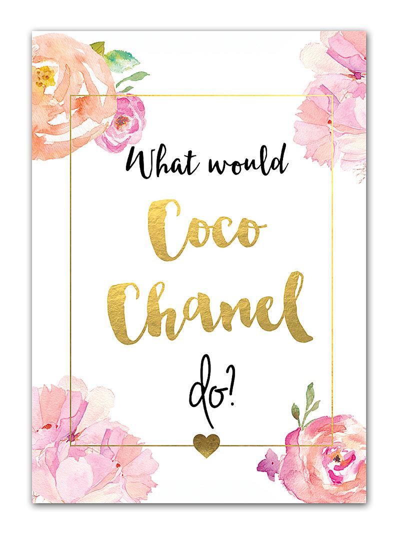 Постер Coco Chanel А3 DG-HOME от Дивайн Лайт