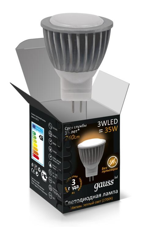 Лампа MR11 3W GU4 4100K AC220-240V FROST Gauss LED Gaussсветодиодные<br>Лампа MR11 3W GU4 4100K AC220-240V FROST Gauss LED. Бренд - Gauss. тип цоколя - GU4. ширина/диаметр - 35. мощность - 3.<br><br>популярные производители: Gauss<br>тип цоколя: GU4<br>ширина/диаметр: 35<br>максимальная мощность лампочки: 3<br>количество лампочек: 0