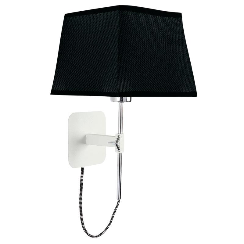 Бра 5318+5240Настенные и бра<br>WALL LAMP E27. Бренд - Mantra. тип лампы - накаливания или LED. количество ламп - 1. тип цоколя - E27. мощность лампы - 13. цвет арматуры - белый. цвет плафона - черный. материал арматуры - металл. материал плафона - ткань. высота - 453. ширина/диаметр - 214. длина - 200. степень защиты ip - 20. форма - квадрат. стиль - модерн. страна происхождения - Испания. коллекция - HABANA. напряжение - 220.<br><br>Бренд: Mantra<br>тип лампы: накаливания или LED<br>количество ламп: 1<br>тип цоколя: E27<br>мощность лампы: 13<br>цвет арматуры: белый<br>цвет плафона: черный<br>материал арматуры: металл<br>материал плафона: ткань<br>высота: 453<br>ширина/диаметр: 214<br>длина: 200<br>степень защиты ip: 20<br>форма: квадрат<br>стиль: модерн<br>страна происхождения: Испания<br>коллекция: HABANA<br>напряжение: 220