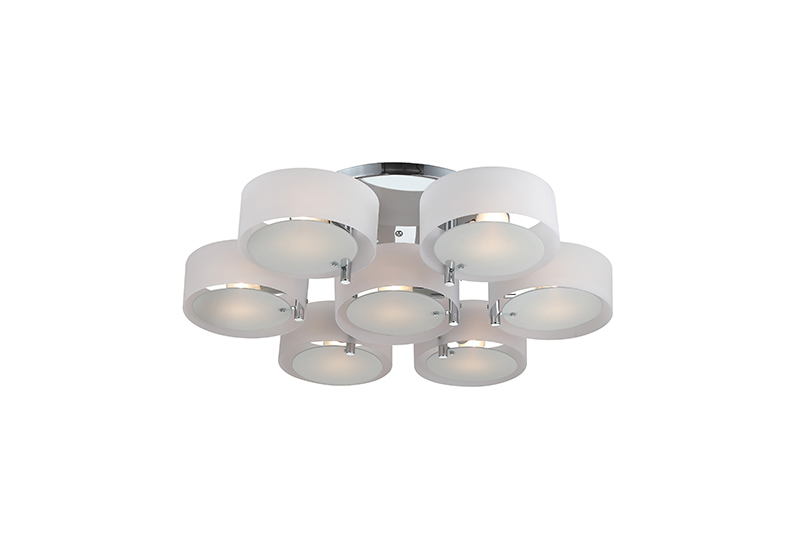 Потолочная люстра накладная SL483.502.07 ST-Luceнакладные<br>Светильник потолочный. Бренд - ST-Luce. материал плафона - пластик. цвет плафона - белый. тип цоколя - E27. тип лампы - накаливания или LED. ширина/диаметр - 900. мощность - 60. количество ламп - 7.<br><br>популярные производители: ST-Luce<br>материал плафона: пластик<br>цвет плафона: белый<br>тип цоколя: E27<br>тип лампы: накаливания или LED<br>ширина/диаметр: 900<br>максимальная мощность лампочки: 60<br>количество лампочек: 7