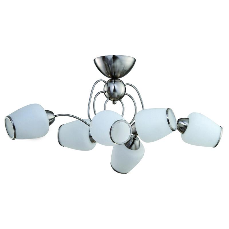 Потолочная люстра накладная 816/6PF-Whitechrome IDLampнакладные<br>Потолочный. Бренд - IDLamp. материал плафона - стекло. цвет плафона - белый. тип цоколя - E27. тип лампы - накаливания или LED. ширина/диаметр - 550. мощность - 60. количество ламп - 6.<br><br>популярные производители: IDLamp<br>материал плафона: стекло<br>цвет плафона: белый<br>тип цоколя: E27<br>тип лампы: накаливания или LED<br>ширина/диаметр: 550<br>максимальная мощность лампочки: 60<br>количество лампочек: 6