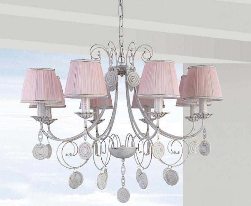 Потолочная люстра подвесная EMILIA SP8 Crystal Luxподвесные<br>EMILIA SP8. Бренд - Crystal Lux. материал плафона - ткань. цвет плафона - розовый. тип цоколя - E14. тип лампы - накаливания или LED. ширина/диаметр - 820. мощность - 60. количество ламп - 8.<br><br>популярные производители: Crystal Lux<br>материал плафона: ткань<br>цвет плафона: розовый<br>тип цоколя: E14<br>тип лампы: накаливания или LED<br>ширина/диаметр: 820<br>максимальная мощность лампочки: 60<br>количество лампочек: 8