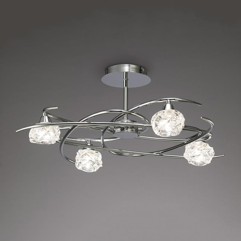 Потолочная люстра на штанге 3943 Mantraна штанге<br>SEMICEILING 4L. Бренд - Mantra. материал плафона - стекло. цвет плафона - прозрачный. тип цоколя - G9. тип лампы - галогеновая или LED. ширина/диаметр - 525. мощность - 33. количество ламп - 4.<br><br>популярные производители: Mantra<br>материал плафона: стекло<br>цвет плафона: прозрачный<br>тип цоколя: G9<br>тип лампы: галогеновая или LED<br>ширина/диаметр: 525<br>максимальная мощность лампочки: 33<br>количество лампочек: 4
