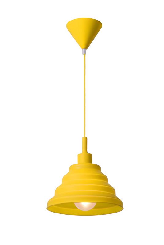 Подвесной  потолочный светильник 08407/24/34 LUCIDEподвесные<br>TUTI Pendant E27 D24 H24cm Yellow. Бренд - LUCIDE. материал плафона - пластик. цвет плафона - желтый. тип цоколя - E27. тип лампы - накаливания или LED. ширина/диаметр - 240. мощность - 40. количество ламп - 1.<br><br>популярные производители: LUCIDE<br>материал плафона: пластик<br>цвет плафона: желтый<br>тип цоколя: E27<br>тип лампы: накаливания или LED<br>ширина/диаметр: 240<br>максимальная мощность лампочки: 40<br>количество лампочек: 1
