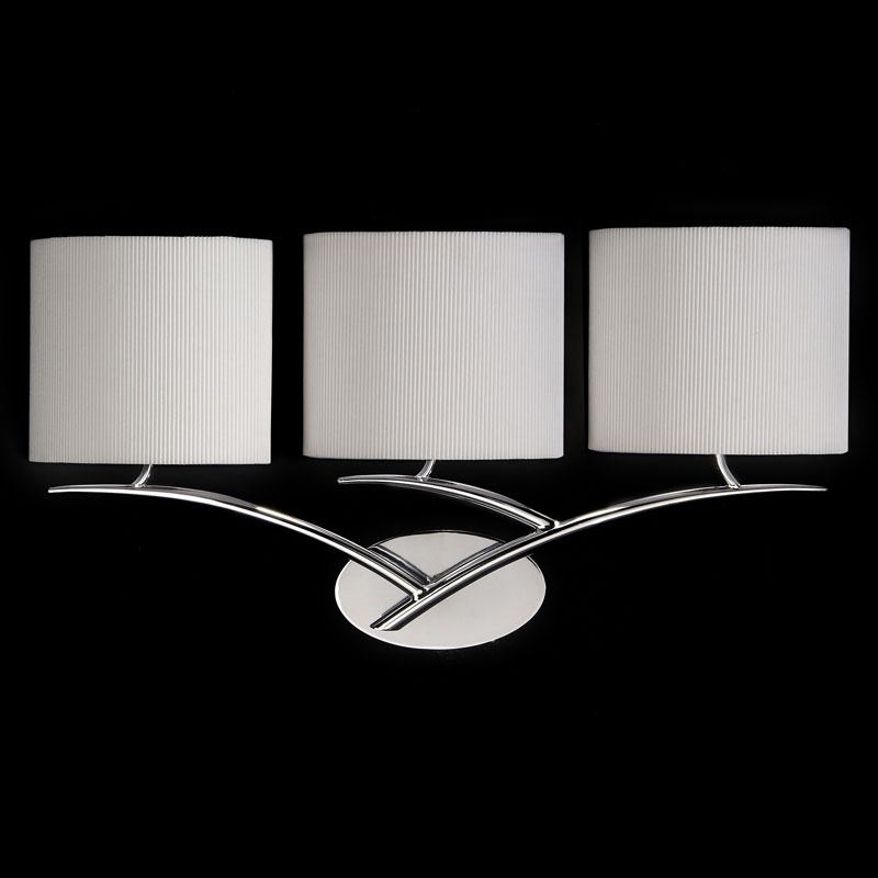 Бра 1136 MantraНастенные и бра<br>WALL LAMP 3L. Бренд - Mantra. материал плафона - ткань. цвет плафона - белый. тип цоколя - E27. тип лампы - КЛЛ. ширина/диаметр - 600. мощность - 20. количество ламп - 3.<br><br>популярные производители: Mantra<br>материал плафона: ткань<br>цвет плафона: белый<br>тип цоколя: E27<br>тип лампы: КЛЛ<br>ширина/диаметр: 600<br>максимальная мощность лампочки: 20<br>количество лампочек: 3