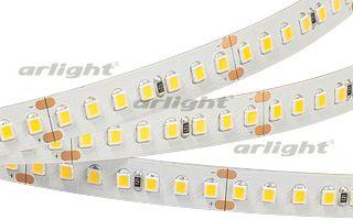 Светодиодная лента 020392 Arlightленты<br>Гибкая лента LUX-серии, светодиоды smd 2835, 168шт/м (840шт на 5м) в линию, белая плата 10мм, скотч 3М. Цвет ТЁПЛЫЙ БЕЛЫЙ 2900-3100К. Питание 24V, мощность 17 Вт/м (85 Вт на 5м), угол 120°, высокая цветопередача CRI&gt;80. Размеры 5000х10х2мм. Цена за 1м.. Бренд - Arlight. тип лампы - LED. ширина/диаметр - 10. мощность - 85. количество ламп - 840.<br><br>популярные производители: Arlight<br>тип лампы: LED<br>ширина/диаметр: 10<br>максимальная мощность лампочки: 85<br>количество лампочек: 840