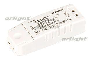 блок питания DC 018093 Arlightблоки питания DC<br>Диммируемый блок питания 24Вт, для мощных светодиодов и светильников. Пластиковый корпус. Габариты LxWxH: 113x44x28 mm. Вход 200-240V AC, выход 20-40VDC, 600 mA, PF&gt;0,9, рабочая т-ра -25+40 С.. Бренд - Arlight. ширина/диаметр - 44. мощность - 24.<br><br>популярные производители: Arlight<br>ширина/диаметр: 44<br>максимальная мощность лампочки: 24