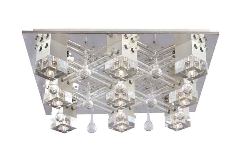 Потолочная люстра накладная SL742.102.09 ST-Luceнакладные<br>Светильник потолочный с пультом. Бренд - ST-Luce. материал плафона - стекло. цвет плафона - прозрачный. тип цоколя - G9. тип лампы - галогеновая или LED. ширина/диаметр - 660. мощность - 40. количество ламп - 9.<br><br>популярные производители: ST-Luce<br>материал плафона: стекло<br>цвет плафона: прозрачный<br>тип цоколя: G9<br>тип лампы: галогеновая или LED<br>ширина/диаметр: 660<br>максимальная мощность лампочки: 40<br>количество лампочек: 9