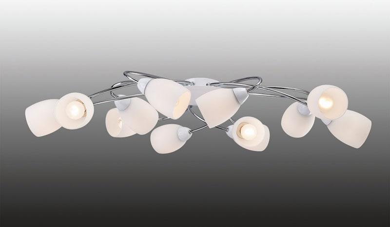 Потолочная люстра накладная 1042-12U Favouriteнакладные<br>Люстра потолочная. Бренд - Favourite. материал плафона - стекло. цвет плафона - белый. тип цоколя - E14. тип лампы - накаливания или LED. ширина/диаметр - 945. мощность - 40. количество ламп - 12.<br><br>популярные производители: Favourite<br>материал плафона: стекло<br>цвет плафона: белый<br>тип цоколя: E14<br>тип лампы: накаливания или LED<br>ширина/диаметр: 945<br>максимальная мощность лампочки: 40<br>количество лампочек: 12