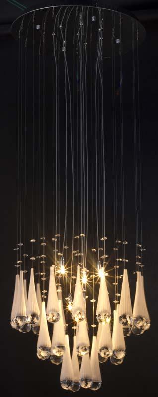 Потолочная люстра подвесная SL615.103.08 ST-Luceподвесные<br>Светильник подвесной. Бренд - ST-Luce. материал плафона - хрусталь. цвет плафона - прозрачный. тип цоколя - G4. тип лампы - галогеновая или LED. ширина/диаметр - 450. мощность - 20. количество ламп - 8. особенности - Дизайнерская люстра подвесная.<br><br>популярные производители: ST-Luce<br>материал плафона: хрусталь<br>цвет плафона: прозрачный<br>тип цоколя: G4<br>тип лампы: галогеновая или LED<br>ширина/диаметр: 450<br>максимальная мощность лампочки: 20<br>количество лампочек: 8<br>особенности: Дизайнерская люстра подвесная