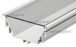 алюминиевый профиль 015479 Arlightпрофили<br>Алюминиевый встраиваемый профиль POWER. Длина 2м, в комплекте с прозрачным экраном. Для создания световых полос и светильников. Материал экрана - PC, UV-защитный, ударопрочный. Размеры 92х40 мм.. Бренд - Arlight. ширина/диаметр - 92.<br><br>популярные производители: Arlight<br>ширина/диаметр: 92