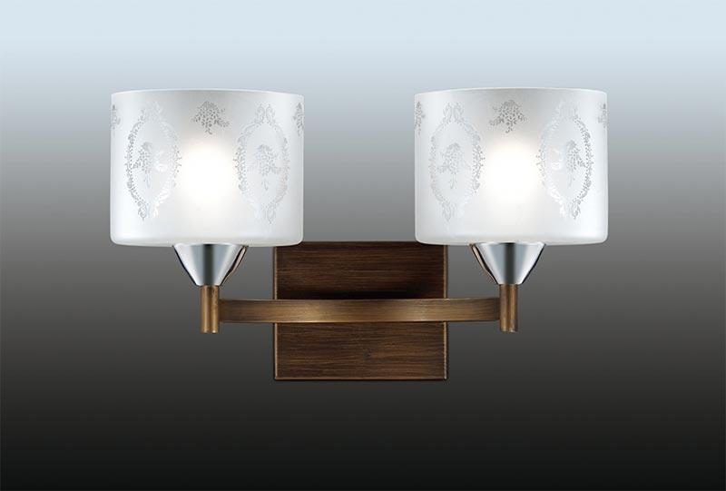 Бра 2759/2W  Odeon LightНастенные и бра<br>2759/2W ODL15 077 коричн/хром Бра E27 2*60W 220V RUNITA. Бренд - Odeon Light. материал плафона - стекло. цвет плафона - белый. тип цоколя - E27. тип лампы - накаливания или LED. ширина/диаметр - 395. мощность - 60. количество ламп - 2.<br><br>популярные производители: Odeon Light<br>материал плафона: стекло<br>цвет плафона: белый<br>тип цоколя: E27<br>тип лампы: накаливания или LED<br>ширина/диаметр: 395<br>максимальная мощность лампочки: 60<br>количество лампочек: 2