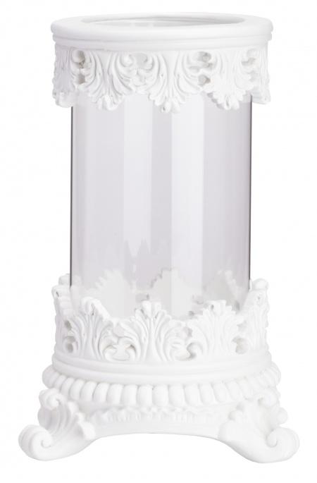 Декоративная ваза Royal I DG-HOMEВазы<br>. Бренд - DG-HOME. ширина/диаметр - 170. материал - Стекло, Полирезин. цвет - белый.<br><br>популярные производители: DG-HOME<br>ширина/диаметр: 170<br>материал: Стекло, Полирезин<br>цвет: белый