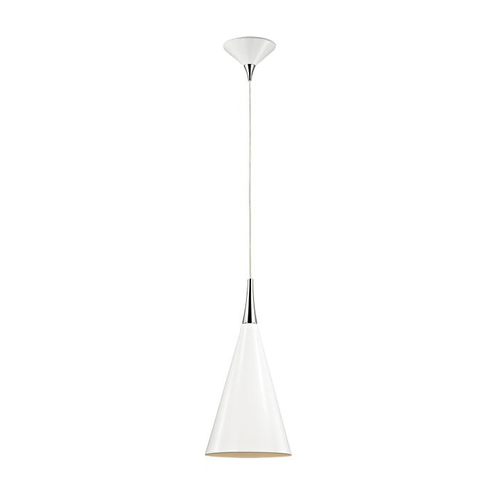 Подвесной  потолочный светильник 2863/1 Odeon Lightподвесные<br>2863/1 ODL16 115 белый глянцевый/металл Подвес Е27 60W 220V KONUS. Бренд - Odeon Light. материал плафона - металл. цвет плафона - белый. тип цоколя - E27. тип лампы - накаливания или LED. ширина/диаметр - 200. мощность - 60. количество ламп - 1.<br><br>популярные производители: Odeon Light<br>материал плафона: металл<br>цвет плафона: белый<br>тип цоколя: E27<br>тип лампы: накаливания или LED<br>ширина/диаметр: 200<br>максимальная мощность лампочки: 60<br>количество лампочек: 1