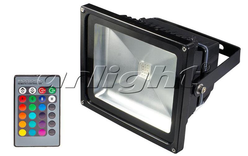Arlight Светодиодный прожектор BR-FL-30W-RGB IR24B (Black, AC220V)
