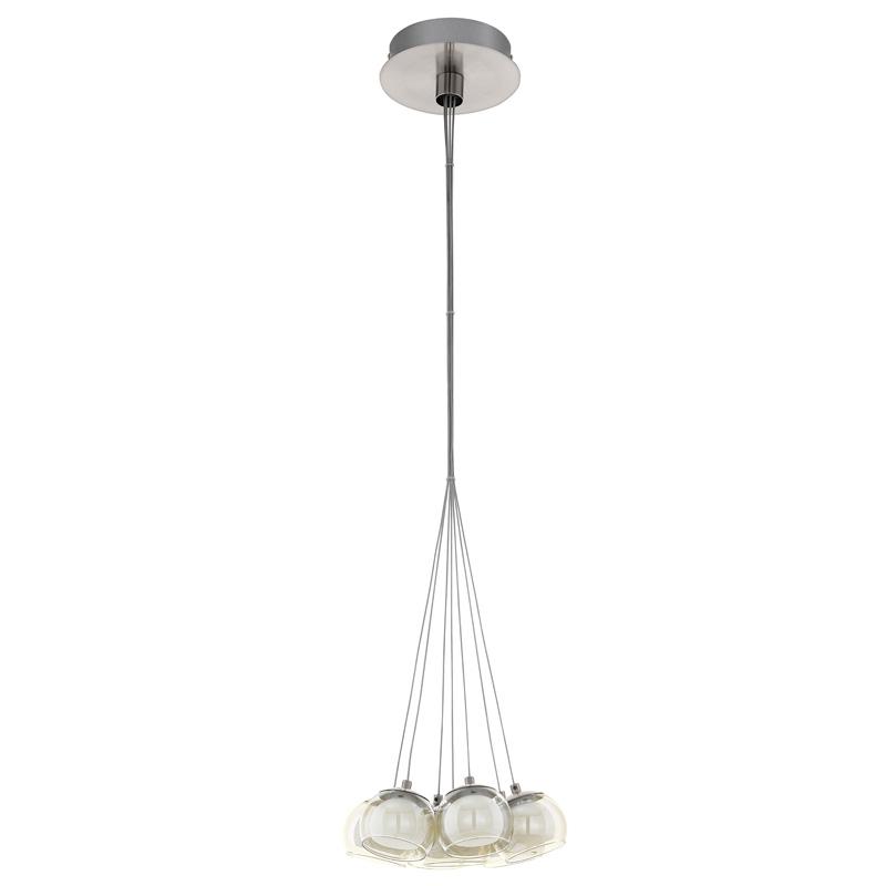 Подвесной  потолочный светильник 94328 EGLOподвесные<br>Светодиодный подвес POLDRAS, 7х3,3W (LED) гроздь, ?325, никель/опаловое стекло, белый, прозрачный медный. Бренд - EGLO. материал плафона - стекло. цвет плафона - белый. тип лампы - LED. ширина/диаметр - 325. мощность - 3.3. количество ламп - 7.<br><br>популярные производители: EGLO<br>материал плафона: стекло<br>цвет плафона: белый<br>тип лампы: LED<br>ширина/диаметр: 325<br>максимальная мощность лампочки: 3.3<br>количество лампочек: 7