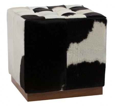 Пуф Сubic Pony Черно-белая Кожа Пони Класса Премиум DG-HOMEПуфы<br>. Бренд - DG-HOME. ширина/диаметр - 7536. материал - Кожа, Поролон.<br><br>популярные производители: DG-HOME<br>ширина/диаметр: 7536<br>материал: Кожа, Поролон