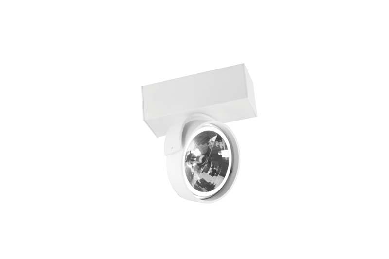 спот DL18407/11WW-White DonoluxСпоты<br>Donolux Светильник накладной, 12В, 1х50Вт, QR111, IP20, D160х60 H189 мм, белый, без ламп, без трасфо. Бренд - Donolux. материал плафона - металл. цвет плафона - белый. тип цоколя - G53. тип лампы - галогеновая или LED. ширина/диаметр - 60. мощность - 50. количество ламп - 1.<br><br>популярные производители: Donolux<br>материал плафона: металл<br>цвет плафона: белый<br>тип цоколя: G53<br>тип лампы: галогеновая или LED<br>ширина/диаметр: 60<br>максимальная мощность лампочки: 50<br>количество лампочек: 1