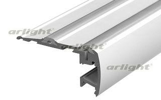 Алюминиевый анодированный высокопрочный профиль для ступеней, подсветка на 2 стороны, антискользящие Arlight