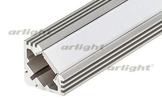 Алюминиевый анодированный угловой профиль, без экрана (отдельно), для светодиодной ленты, линейки. М Arlight