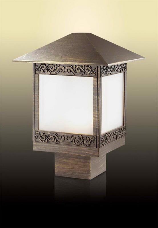 Odeon Light 2644/1B ODL14 927 коричн/пластик антивандальный Уличный светильник на столб IP44 E27 60W 220V Novara