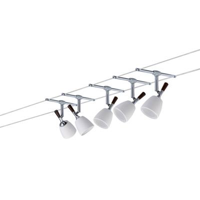 Светильник  97611 Paulmannсветильники<br>Cв-к струнн. Mix 105 5x20W GU5,3 хром-алюм.   . Бренд - Paulmann. материал плафона - стекло. цвет плафона - белый. тип цоколя - GU5.3. тип лампы - галогеновая или LED. ширина/диаметр - 160. мощность - 20. количество ламп - 5.<br><br>популярные производители: Paulmann<br>материал плафона: стекло<br>цвет плафона: белый<br>тип цоколя: GU5.3<br>тип лампы: галогеновая или LED<br>ширина/диаметр: 160<br>максимальная мощность лампочки: 20<br>количество лампочек: 5