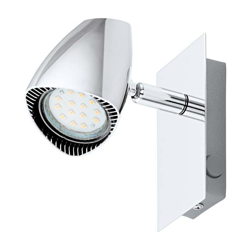 спот 93672 EGLOСпоты<br>Светодиодный спот CORBERA, 1х3W (GU10), сталь/пластик, хром. Бренд - EGLO. материал плафона - пластик. цвет плафона - хром. тип цоколя - GU10. тип лампы - галогеновая или LED. ширина/диаметр - 120. мощность - 3. количество ламп - 1.<br><br>популярные производители: EGLO<br>материал плафона: пластик<br>цвет плафона: хром<br>тип цоколя: GU10<br>тип лампы: галогеновая или LED<br>ширина/диаметр: 120<br>максимальная мощность лампочки: 3<br>количество лампочек: 1