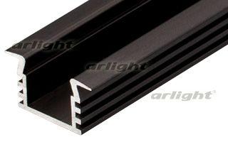 Алюминиевый анодированный темно-коричневый профиль с фланцем, без экрана (отдельно), для светодиодно Arlight
