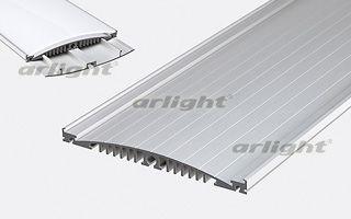 Алюминиевый анодированный профиль для изготовления светильников. Можно устанавливать до 10 рядов лен Arlight