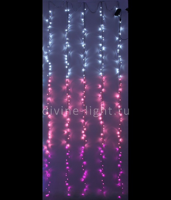ESI321-SH10-1WP Laitcomсветодиодные занавесы<br>10-008 Занавес с эффектом бегущий огонь 2x3,3м, 24V, прозр. пр., белый-св. розовый-розовый. Бренд - Laitcom. количество ламп - 321.<br><br>популярные производители: Laitcom<br>количество лампочек: 321