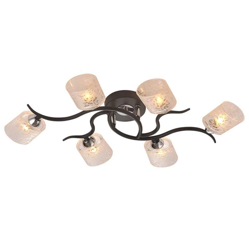 Потолочная люстра накладная 207/6PF-Black IDLampнакладные<br>Потолочный. Бренд - IDLamp. материал плафона - стекло. цвет плафона - прозрачный. тип цоколя - G9. тип лампы - галогеновая или LED. ширина/диаметр - 410. мощность - 40. количество ламп - 6.<br><br>популярные производители: IDLamp<br>материал плафона: стекло<br>цвет плафона: прозрачный<br>тип цоколя: G9<br>тип лампы: галогеновая или LED<br>ширина/диаметр: 410<br>максимальная мощность лампочки: 40<br>количество лампочек: 6