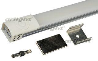 Накладной потолочный светильник 013366 Arlightнакладные<br>Линейный светильник 60 см, матовый экран, сенсорная кнопка. Цвет ТЕПЛЫЙ 3000K, smd 3528 123 шт, св.поток 650 лм. Питание DC 12V, мощность 10 Вт. Размер 600х20х14мм. В к-те 2 крепежа на винт, 2 магнитных держателя, соединитель.. Бренд - Arlight. материал плафона - пластик. цвет плафона - серый. тип лампы - LED. ширина/диаметр - 20. мощность - 10.<br><br>популярные производители: Arlight<br>материал плафона: пластик<br>цвет плафона: серый<br>тип лампы: LED<br>ширина/диаметр: 20<br>максимальная мощность лампочки: 10