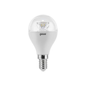 Лампа LED E14 6W 4100K диммируемая 1/10/50 Gauss Globe Crystal Clear от Дивайн Лайт