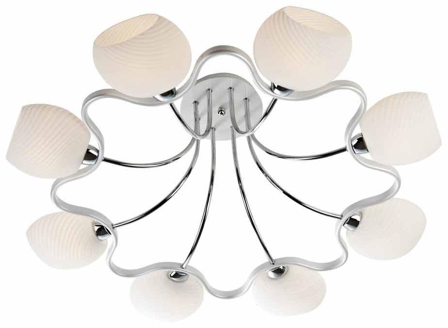 Потолочная люстра накладная 269-207-08 VELANTEнакладные<br>потолочный. Бренд - VELANTE. материал плафона - стекло. цвет плафона - белый. тип цоколя - E14. тип лампы - накаливания или LED. ширина/диаметр - 790. мощность - 40. количество ламп - 8.<br><br>популярные производители: VELANTE<br>материал плафона: стекло<br>цвет плафона: белый<br>тип цоколя: E14<br>тип лампы: накаливания или LED<br>ширина/диаметр: 790<br>максимальная мощность лампочки: 40<br>количество лампочек: 8