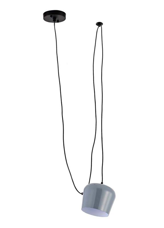 Подвесной  потолочный светильник S111013/1A grey Donoluxподвесные<br>Donolux Modern подвес, плафон металлический серого цвета, диам 16 см, выс 15 см, длина провода 350 с. Бренд - Donolux. материал плафона - металл. цвет плафона - серый. тип цоколя - E27. тип лампы - накаливания или LED. ширина/диаметр - 160. мощность - 60. количество ламп - 1.<br><br>популярные производители: Donolux<br>материал плафона: металл<br>цвет плафона: серый<br>тип цоколя: E27<br>тип лампы: накаливания или LED<br>ширина/диаметр: 160<br>максимальная мощность лампочки: 60<br>количество лампочек: 1