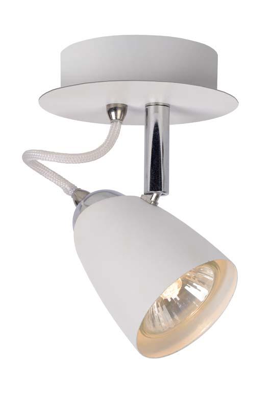 спот 26956/21/31 LUCIDEСпоты<br>RIDE Spot GU10/35Wincl  White. Бренд - LUCIDE. материал плафона - металл. цвет плафона - белый. тип цоколя - GU10. тип лампы - галогеновая или LED. ширина/диаметр - 100. мощность - 35. количество ламп - 1.<br><br>популярные производители: LUCIDE<br>материал плафона: металл<br>цвет плафона: белый<br>тип цоколя: GU10<br>тип лампы: галогеновая или LED<br>ширина/диаметр: 100<br>максимальная мощность лампочки: 35<br>количество лампочек: 1