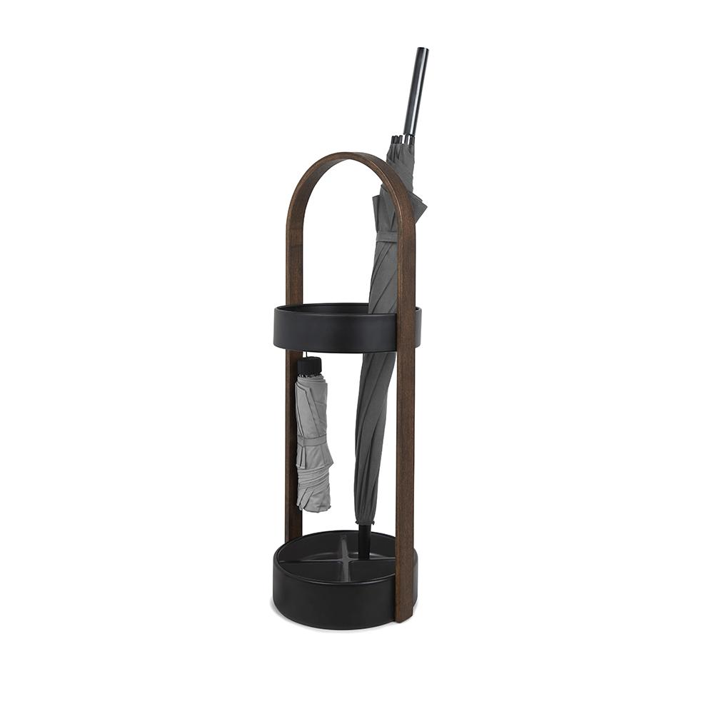 Подставка для зонтов hub чёрный/орех Umbra от Дивайн Лайт