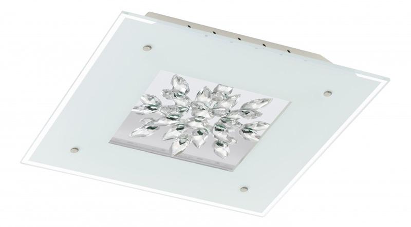 Потолочная люстра накладная 93574 EGLOнакладные<br>Светодиодный светильник настенно-потолочный BENALUA, 4x6W (LED), 470х470, белый/зеркальный/хрусталь. Бренд - EGLO. материал плафона - стекло. цвет плафона - прозрачный. тип лампы - LED. ширина/диаметр - 470. мощность - 24. количество ламп - 1.<br><br>популярные производители: EGLO<br>материал плафона: стекло<br>цвет плафона: прозрачный<br>тип лампы: LED<br>ширина/диаметр: 470<br>максимальная мощность лампочки: 24<br>количество лампочек: 1
