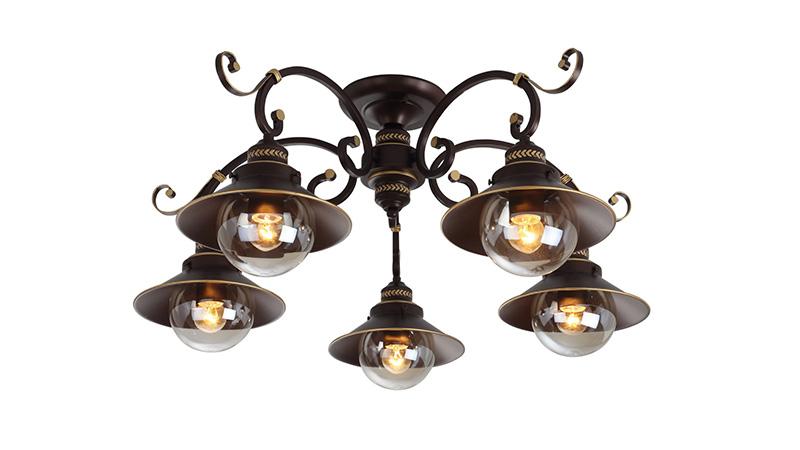 Потолочная люстра накладная A4577PL-5CK ARTE Lampнакладные<br>A4577PL-5CK. Бренд - ARTE Lamp. материал плафона - металл. цвет плафона - коричневый. тип цоколя - E27. тип лампы - накаливания или LED. ширина/диаметр - 750. мощность - 60. количество ламп - 5.<br><br>популярные производители: ARTE Lamp<br>материал плафона: металл<br>цвет плафона: коричневый<br>тип цоколя: E27<br>тип лампы: накаливания или LED<br>ширина/диаметр: 750<br>максимальная мощность лампочки: 60<br>количество лампочек: 5