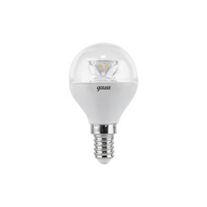 Лампа LED E14 4W 4100K 1/10/50 Gauss Globe Crystal Clear