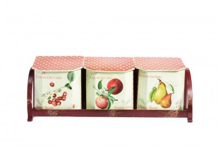 Набор емкостей для хранения на подставке Fruits DG-HOME от Дивайн Лайт