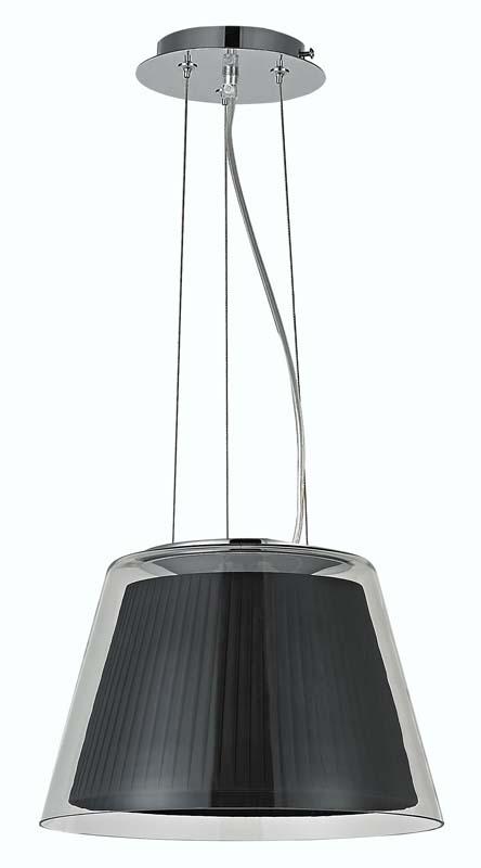 Подвесной  потолочный светильник S111003/1black Donoluxподвесные<br>Donolux Modern подвес, плафон прозрачное стекло, абажур черного цвета, ткань нейлон, диам 44 см, мак. Бренд - Donolux. материал плафона - ткань. цвет плафона - черный. тип цоколя - E27. тип лампы - накаливания или LED. ширина/диаметр - 440. мощность - 60. количество ламп - 1.<br><br>популярные производители: Donolux<br>материал плафона: ткань<br>цвет плафона: черный<br>тип цоколя: E27<br>тип лампы: накаливания или LED<br>ширина/диаметр: 440<br>максимальная мощность лампочки: 60<br>количество лампочек: 1