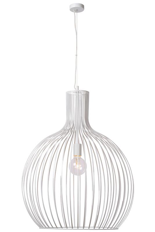 Подвесной  потолочный светильник 78369/50/31 LUCIDEподвесные<br>CONCITA Pendant E27 D50 H60cm White. Бренд - LUCIDE. материал плафона - металл. цвет плафона - белый. тип цоколя - E27. тип лампы - накаливания или LED. ширина/диаметр - 500. мощность - 60. количество ламп - 1.<br><br>популярные производители: LUCIDE<br>материал плафона: металл<br>цвет плафона: белый<br>тип цоколя: E27<br>тип лампы: накаливания или LED<br>ширина/диаметр: 500<br>максимальная мощность лампочки: 60<br>количество лампочек: 1