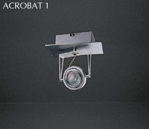 Накладной потолочный светильник Acrobat 1 555.11 SDM Luceнакладные<br>Acrobat 1 555.11 GU 5.3 1x50W 12V(c алюм. отражателем);  IP 20 Светильник накл. потолочный  Размеры, мм: 80x176x180h. Трансформ. и лампа в комплект не входят. Бренд - SDM Luce.<br><br>популярные производители: SDM Luce