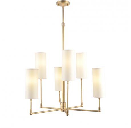 Потолочная люстра на штанге CH074-6-BRS GRAMERCY HOMEна штанге<br>CLARENCE SMALL   CHANDELIER. Бренд - GRAMERCY HOME. материал плафона - ткань. цвет плафона - белый. тип цоколя - E14. тип лампы - накаливания или LED. ширина/диаметр - 620. мощность - 40. количество ламп - 6.<br><br>популярные производители: GRAMERCY HOME<br>материал плафона: ткань<br>цвет плафона: белый<br>тип цоколя: E14<br>тип лампы: накаливания или LED<br>ширина/диаметр: 620<br>максимальная мощность лампочки: 40<br>количество лампочек: 6