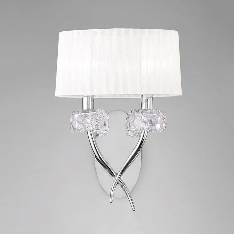 Бра 4634 MantraНастенные и бра<br>CHROME - WHITE SHADE. Бренд - Mantra. материал плафона - ткань. цвет плафона - белый. тип цоколя - E14. тип лампы - накаливания или LED. ширина/диаметр - 310. мощность - 13. количество ламп - 2.<br><br>популярные производители: Mantra<br>материал плафона: ткань<br>цвет плафона: белый<br>тип цоколя: E14<br>тип лампы: накаливания или LED<br>ширина/диаметр: 310<br>максимальная мощность лампочки: 13<br>количество лампочек: 2