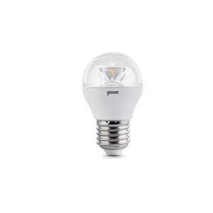 Лампа LED E27 4W 4100K 1/10/50 Gauss Globe Crystal Clear