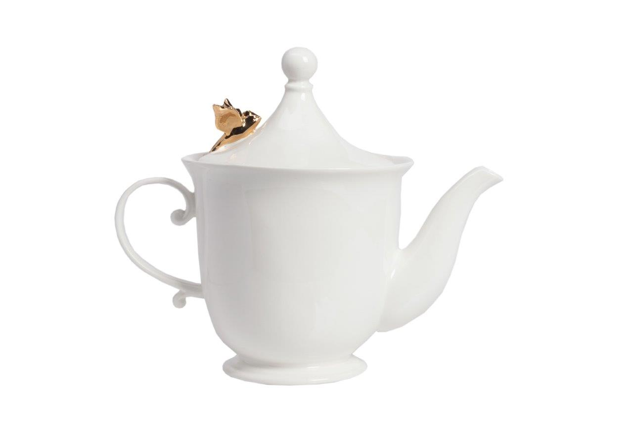 Заварной чайник Bejaflor DG-HOMEОтдельные предметы<br>. Бренд - DG-HOME. ширина/диаметр - 150. материал - Грубая керамика. цвет - Белый, золотой.<br><br>популярные производители: DG-HOME<br>ширина/диаметр: 150<br>материал: Грубая керамика<br>цвет: Белый, золотой