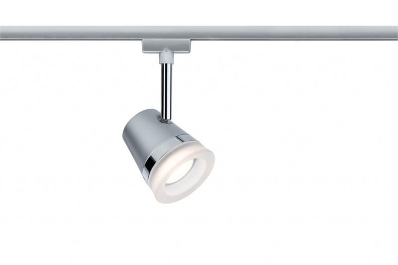 Светильник  95228 Paulmannсветильники<br>URail Spot Cone 1x40W GU10 Chr-m. Бренд - Paulmann. материал плафона - стекло. цвет плафона - белый. тип цоколя - GU10. тип лампы - галогеновая или LED. ширина/диаметр - 85. мощность - 6.5. количество ламп - 1.<br><br>популярные производители: Paulmann<br>материал плафона: стекло<br>цвет плафона: белый<br>тип цоколя: GU10<br>тип лампы: галогеновая или LED<br>ширина/диаметр: 85<br>максимальная мощность лампочки: 6.5<br>количество лампочек: 1